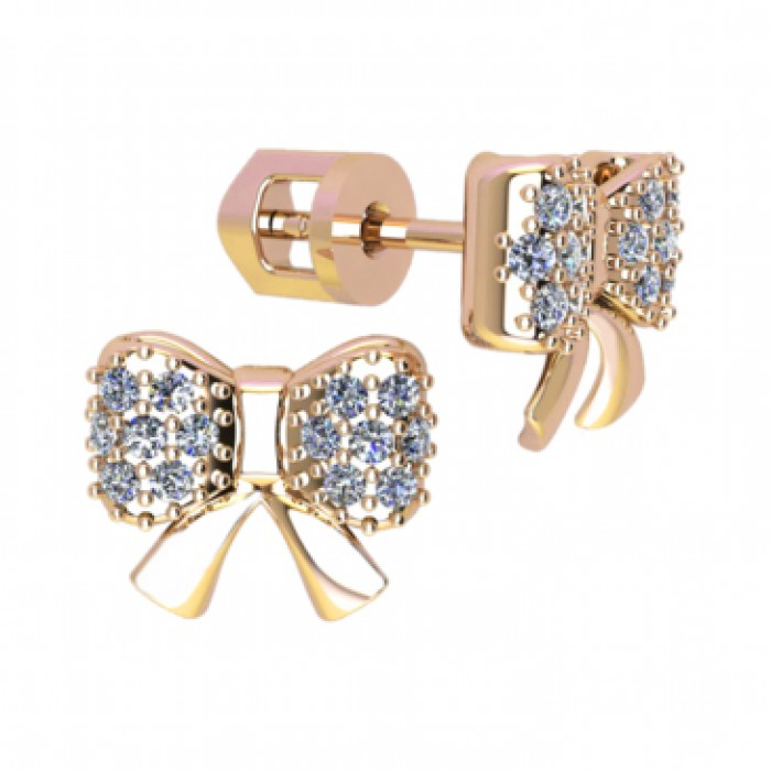 Stud earrings 40974