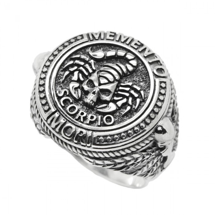 """Ring """"Scorpio Zodiac Skull"""""""