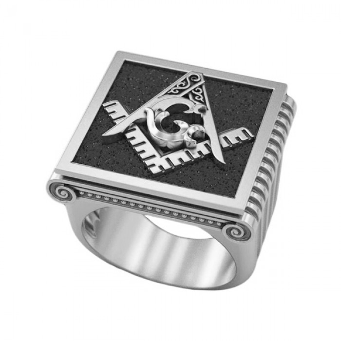 """Ring """"Masonic Square and Compass"""""""