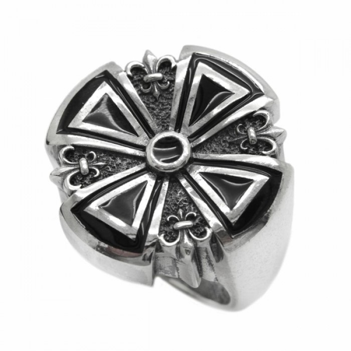 """Ring """"Cross and Heraldic Lily"""""""
