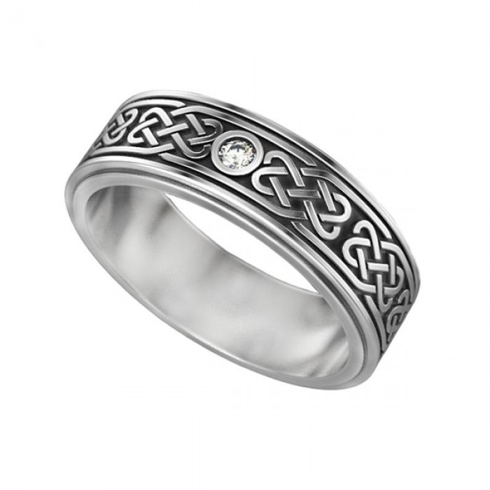 "Ring ""Celtic Ornament Engagement"""