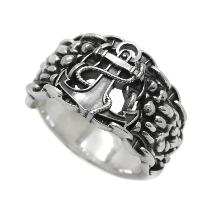 """Ring """"Sea Anchor and Chain"""""""