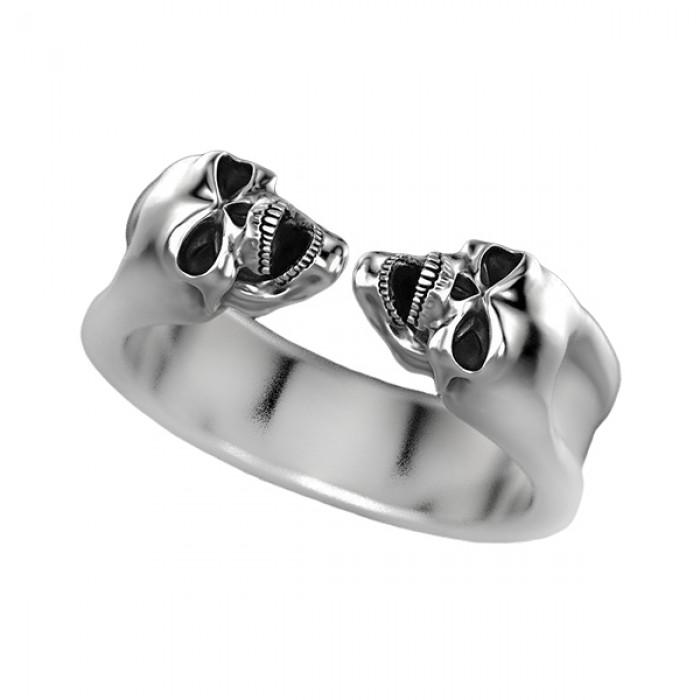 "Ring ""Gemini Zodiac Skull"""