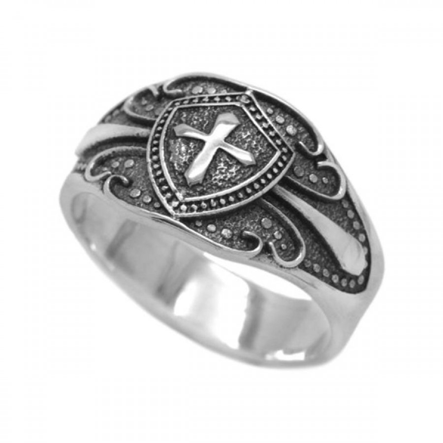 """Ring """"Shield and Cross"""""""