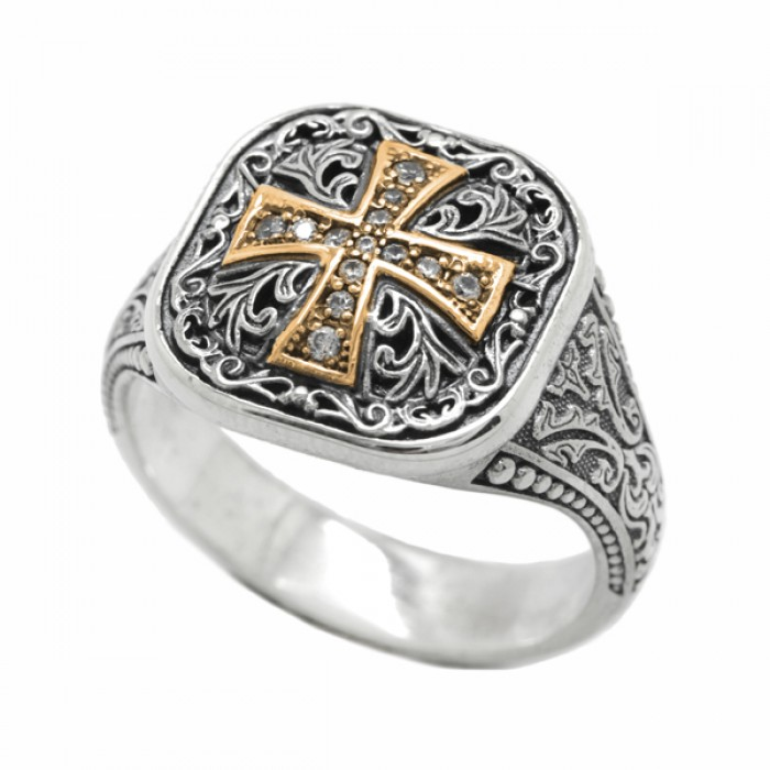 "Ring ""Byzantine Medieval Gold Cross"""
