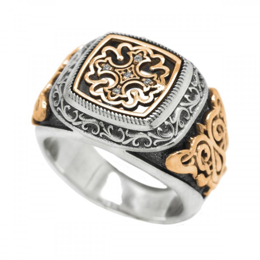 "Ring ""Gold Pattern Cross"""