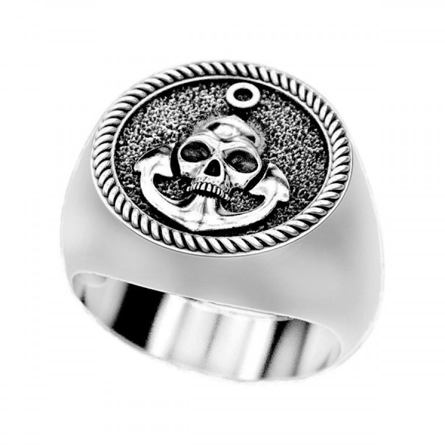 "Ring """"Skull and Anchor"""