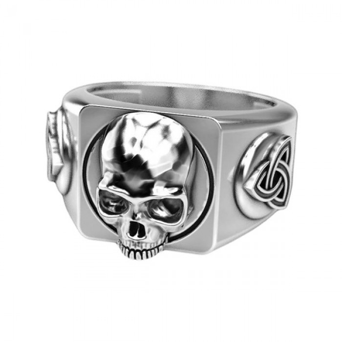 """Ring """"Skull With Celtic Shield Knot"""""""