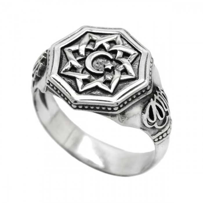 """Ring """"Star and Crescent"""""""
