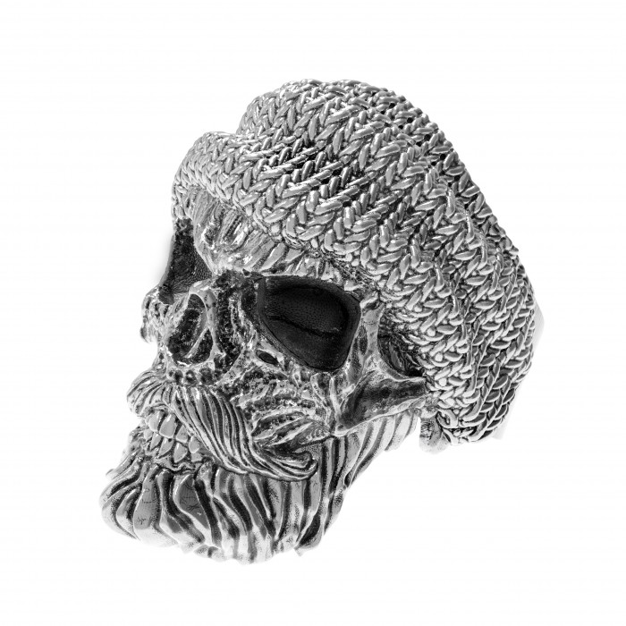 "Ring ""Skull in Knitted Hat"""