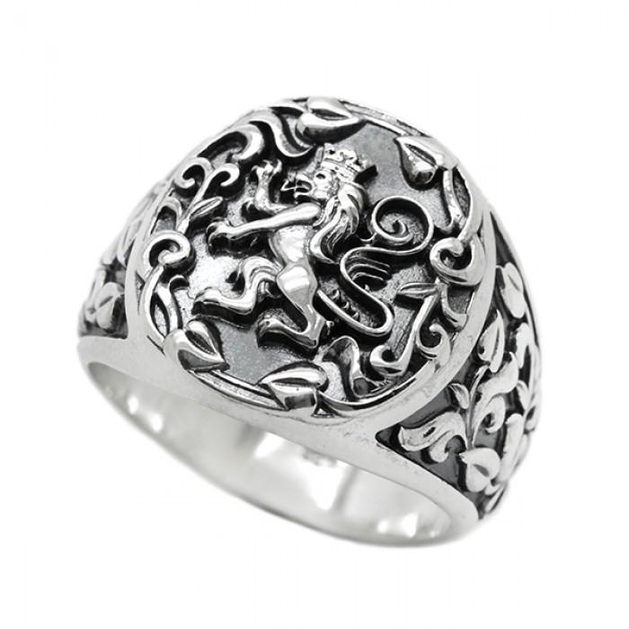 """Ring """"Rampant Lion Heraldry"""""""