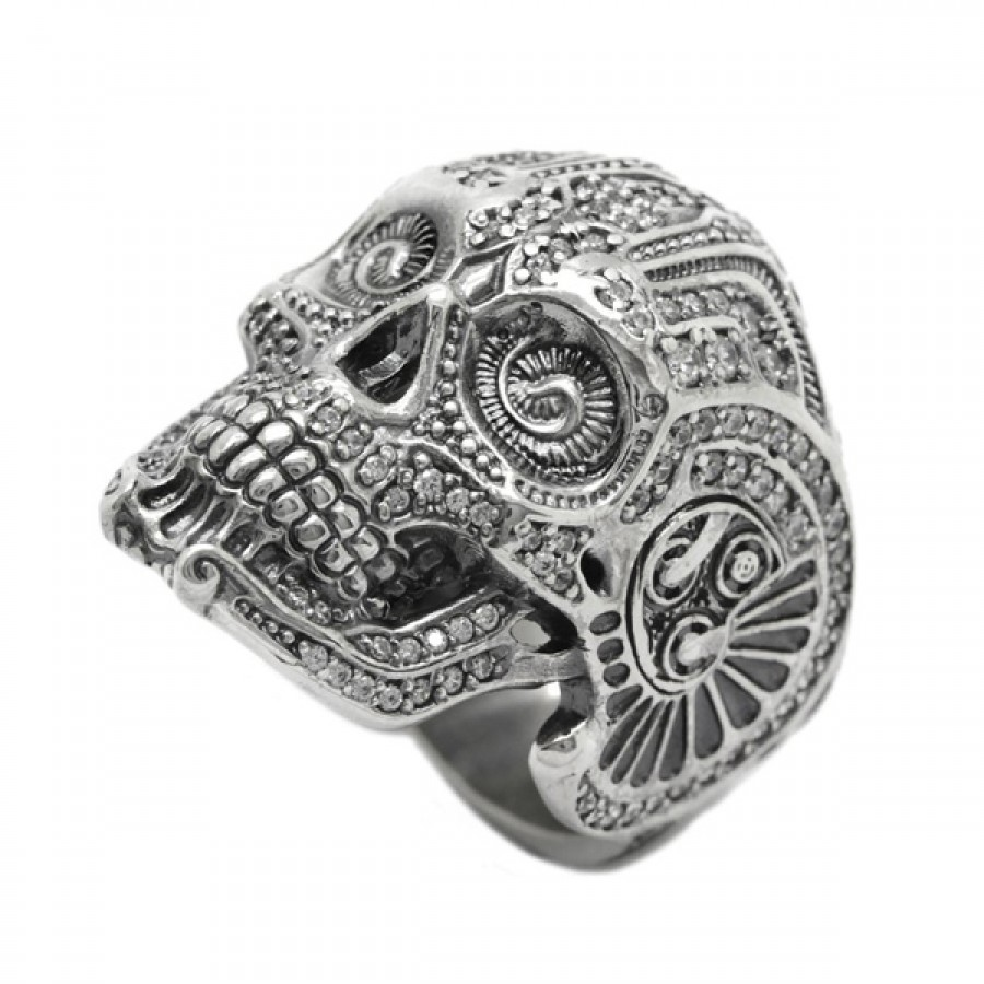 "Ring ""Glamour Steampunk Skull"""