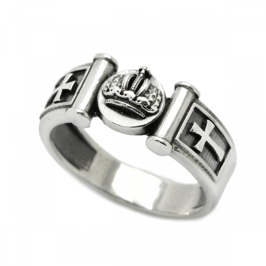 """Ring """"Crown and Crosses"""""""