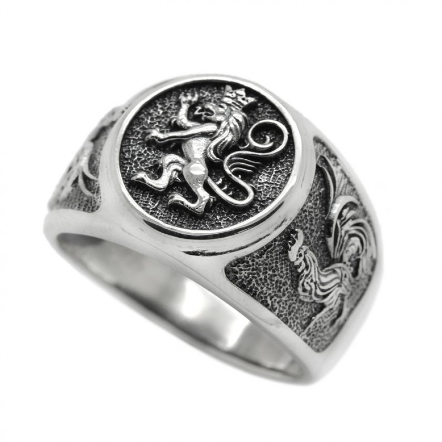 """Ring """"Lion and Roosters"""""""