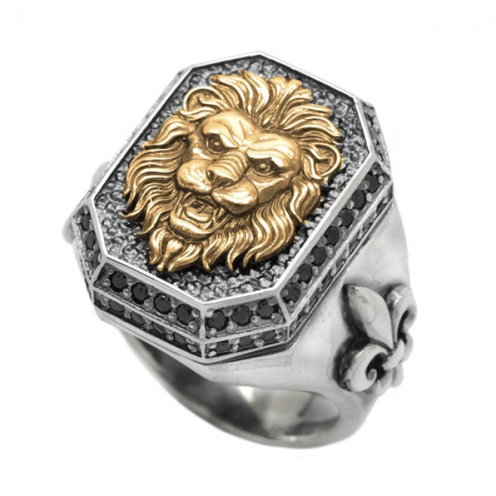 """Ring """"Lion and Lily"""""""