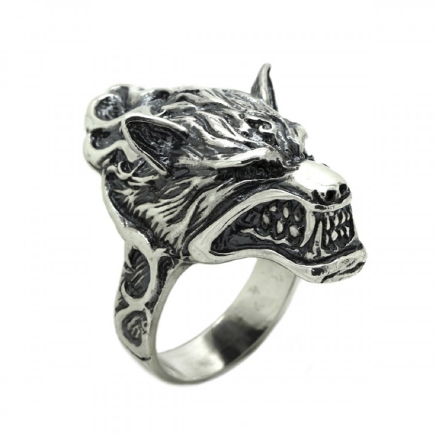 """Ring  """"Angry Wolf"""""""