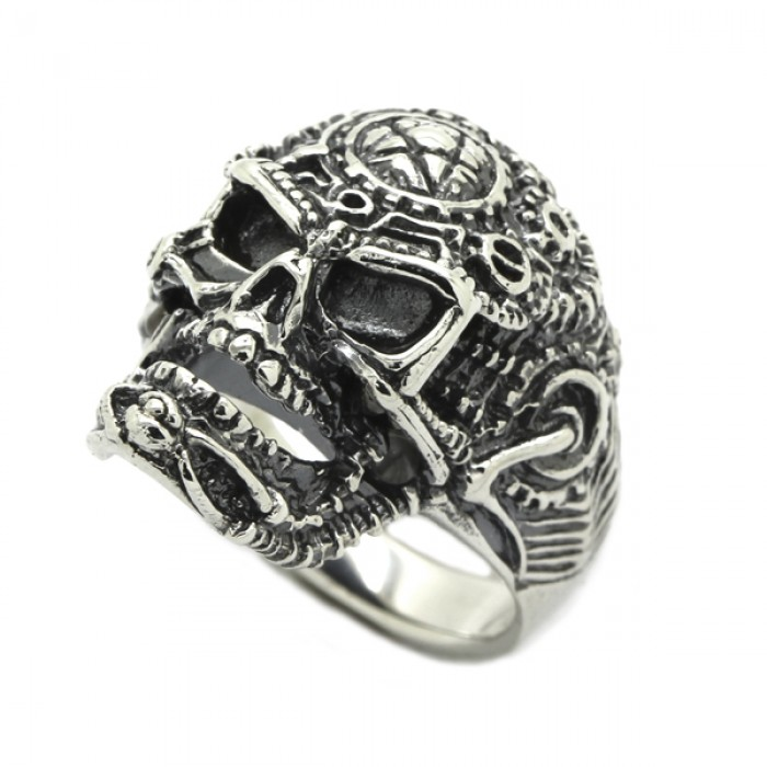 """Ring """"Skull with a Pentacle"""""""