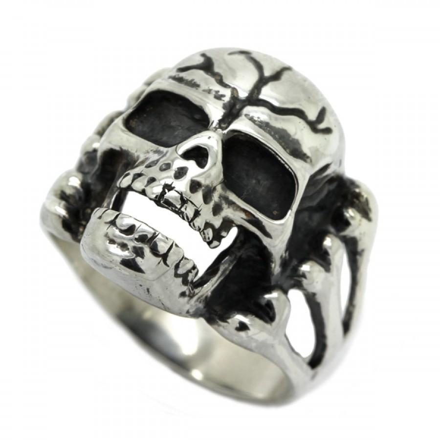 "Ring  ""Skull and bones"""