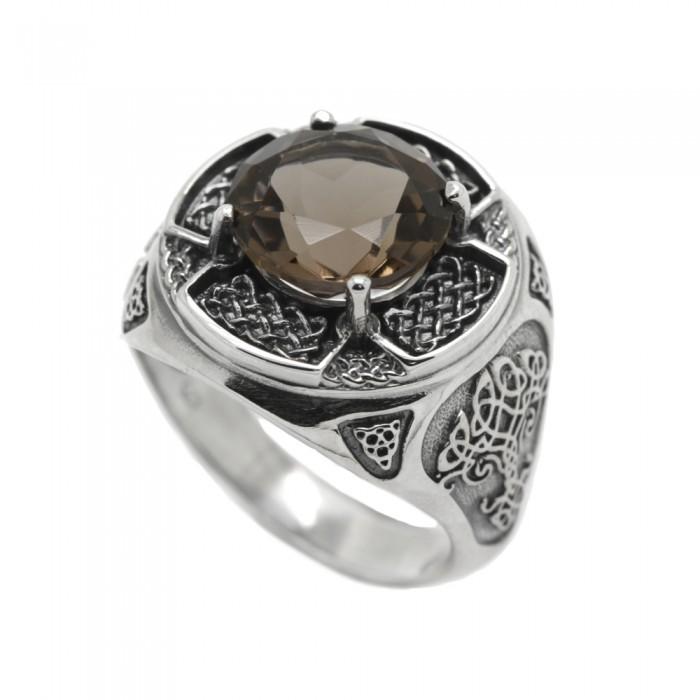 "Ring ""Celtic Natural Smoky Quartz"""