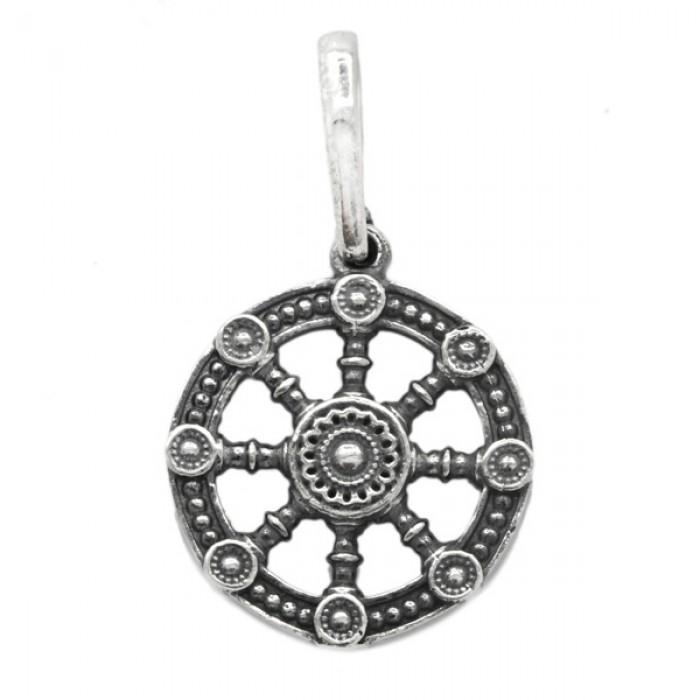 "Pendant ""Dharmachakra, Wheel of Dharma"""