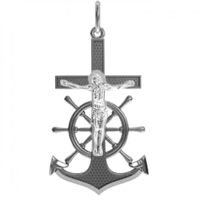 "Pendant ""Crucifix Cross & Anchor & Helm"""