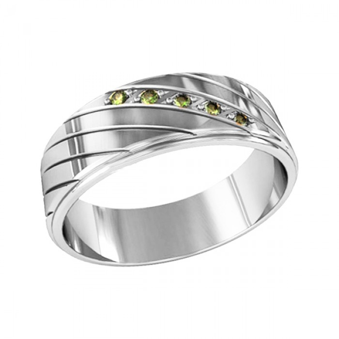 Band ring with five stones
