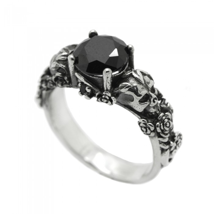 """Ring """"Skull and Roses"""""""